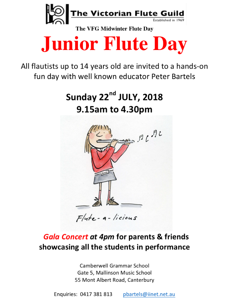 VFG Midwinter Flute Day 2018 Application Closing Date Extended To Sunday 15th July
